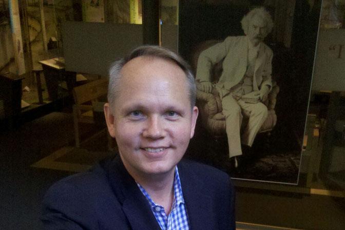 At The Mark Twain House, A Pen Befitting The Man
